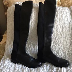 Stuart Weitzman 50/50 black leather/ fabric